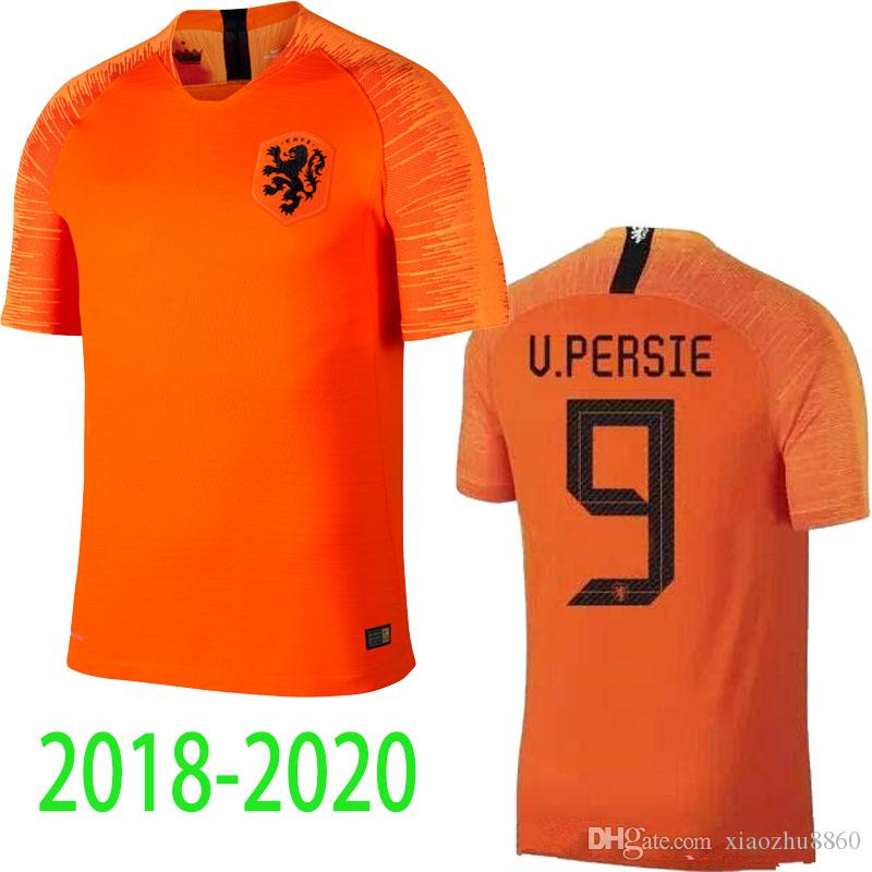 938ca6d16cc ... spain 2019 2018 20 holland soccer jersey home orange netherlands  national team jersey memphis sneijder 19