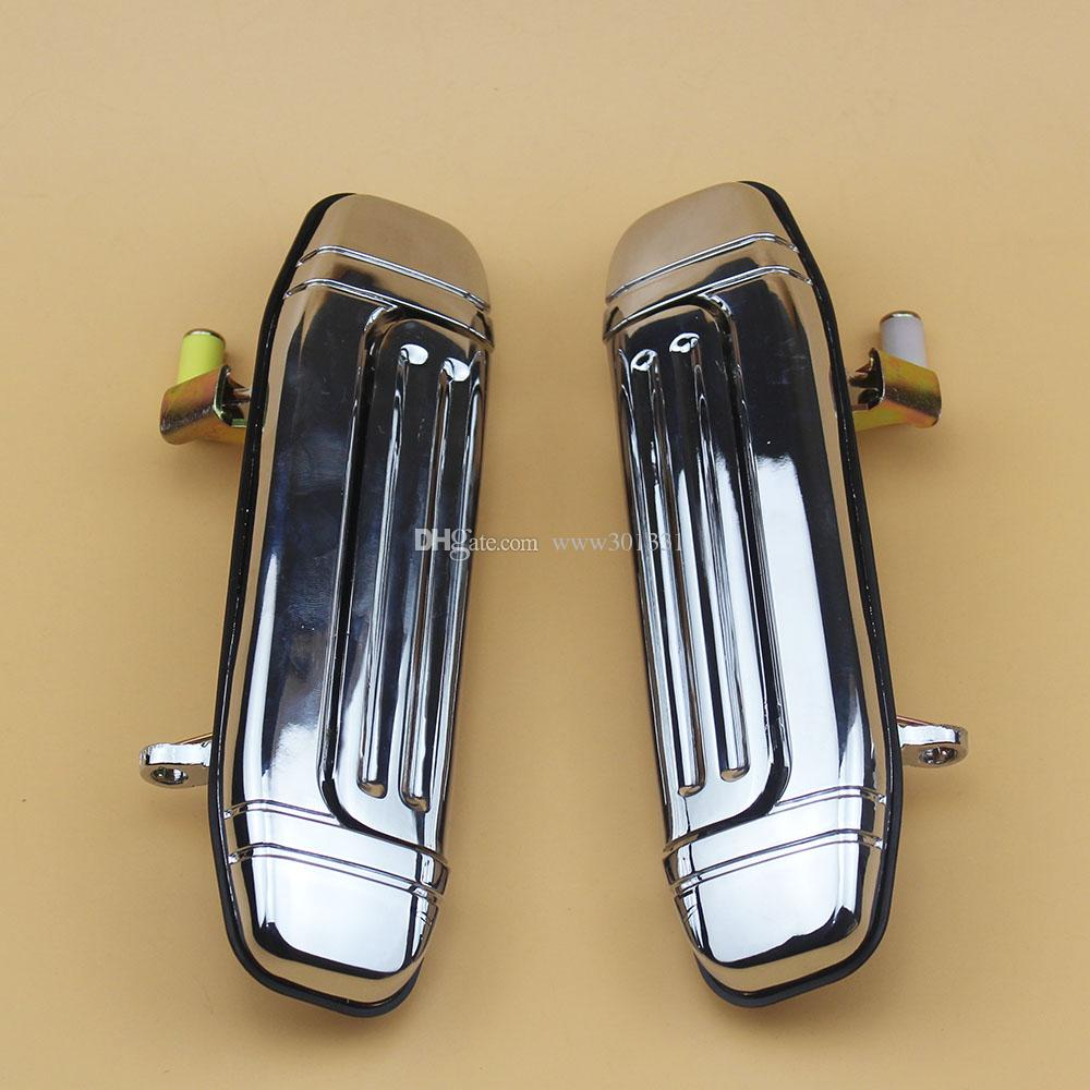 Chrome Rear Pair Door Handle Stainless Steel Metal For Mitsubishi