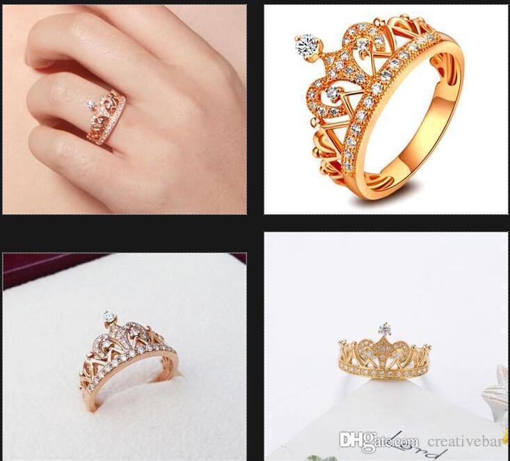 Compre Las Mujeres De La Realeza Reina Reina Princesa Corona Anillo 18k Oro  GP Moda AAA CZ Anillo A  8.05 Del Creativebar  3dbb49c6a2e