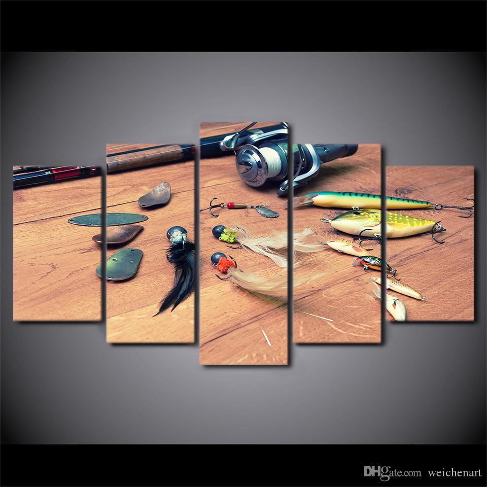 HD Printed Canvas Art Fishing Hook Painting Wall Pictures for Living Room Home Decor Poster CU-2545B