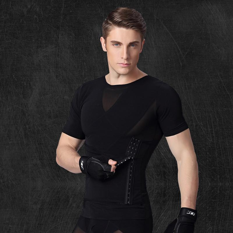 7daf589a96 Wholesale-Men s Shapers Slimming Belt Belly Tshirts Waist Corsets ...