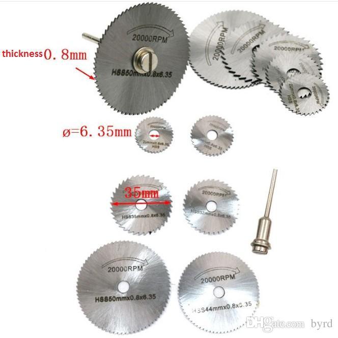 Accessori mulino elettrico piece legno taglio acciaio ad alta velocità alluminio rame plastica softmetal piccola lama asta 3,2 millimetri BS061-1 / 2