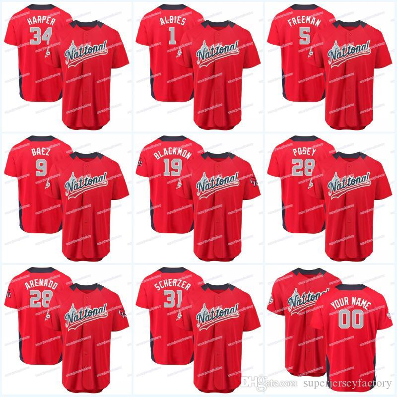 76f4d7867 2018 All Star Men National League 1 Ozzie Albies 5 Freddie Freeman 9 ...