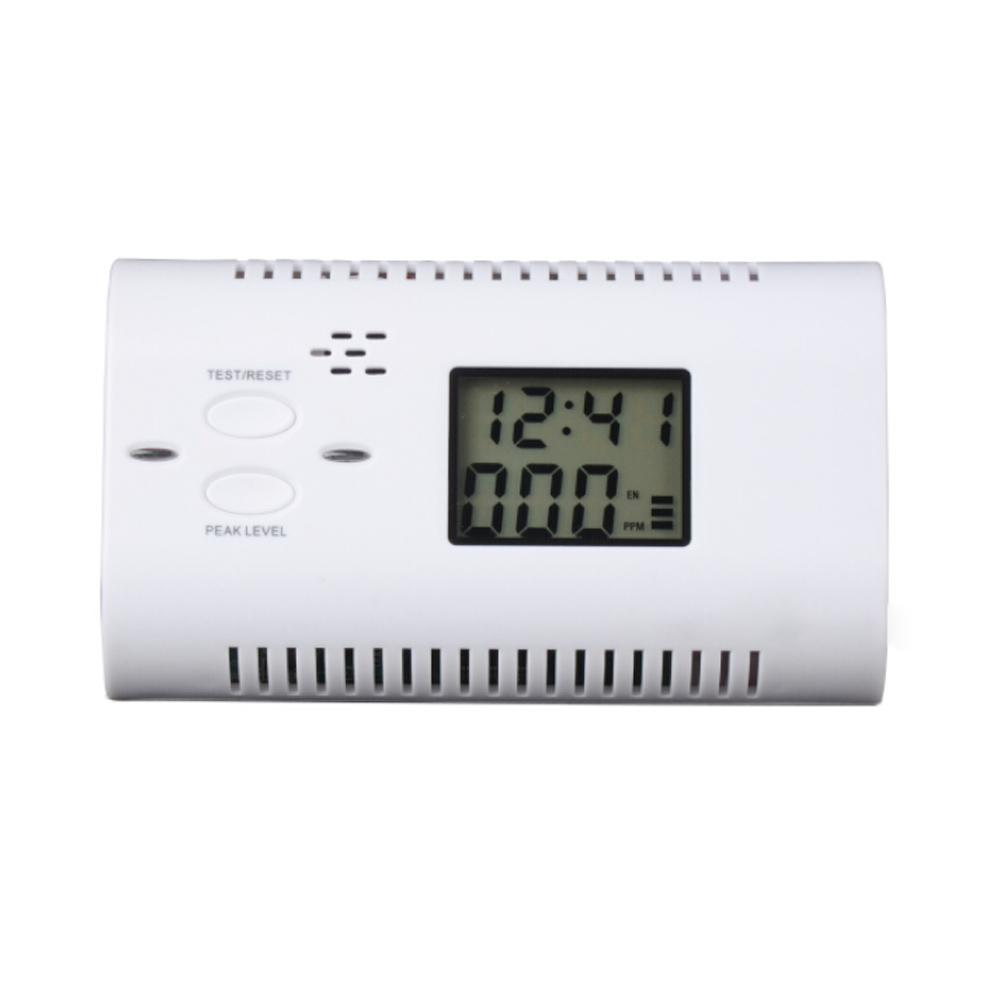 Freeshipping Battery-Operated CO Carbon Monoxide Detector Alarm Human Voice Warning Battery Powered Backlight Digital LCD air analyzer