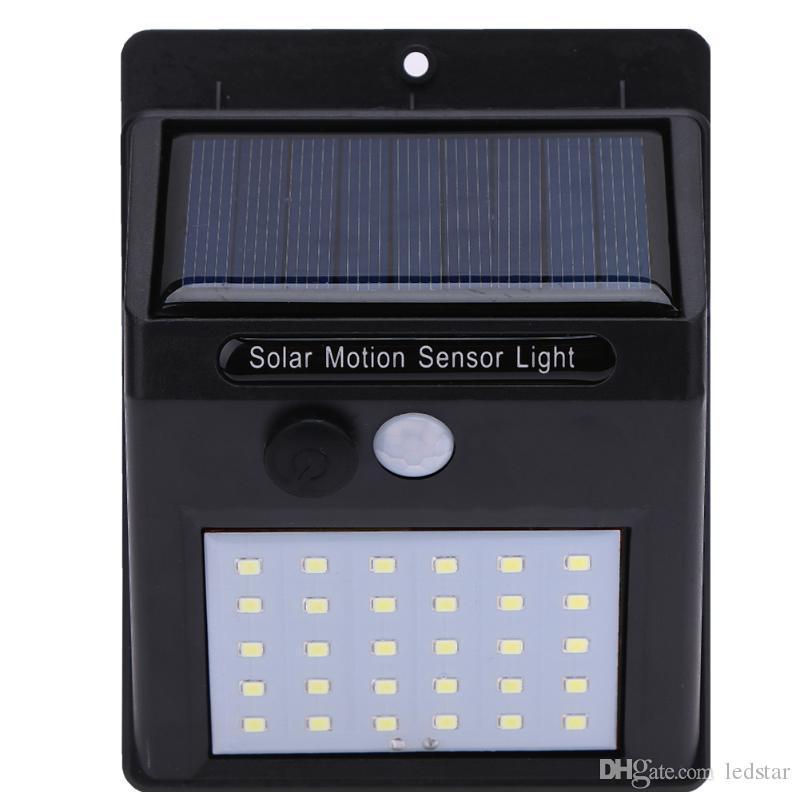 12 16 20 Solar Power LED PIR del sensore di movimento parete esterna impermeabile Via Yard Percorso della casa della lampada Giardino Sicurezza risparmio energetico