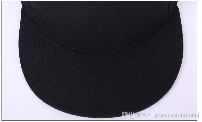 beaucoup usine gros casquettes hip hop Snapback personnalisé LOGO / lettre à bord plat hip hop chapeau de baseball unisexe taille réglable