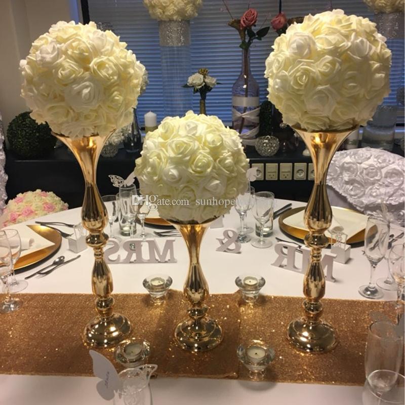 Grosshandel Mental Eisen Tisch Kronleuchter Hochzeit Tischdekoration