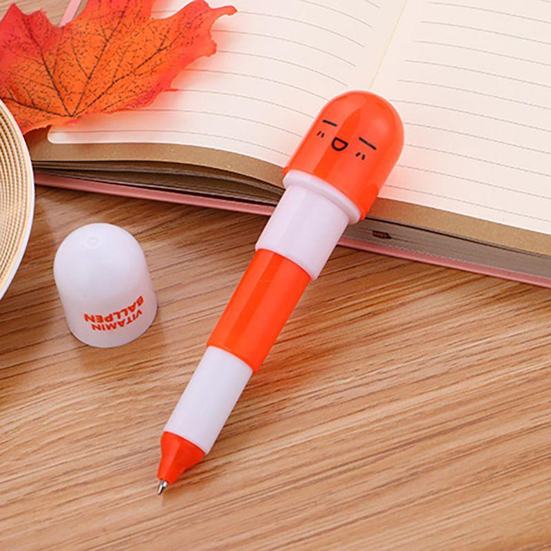 Schöne Kawaii Pille Form Druckkugelschreiber Nette Lern Schreibwaren Studentenpreis Vitamin Pille Neuheit Kugelschreiber Freies DHL