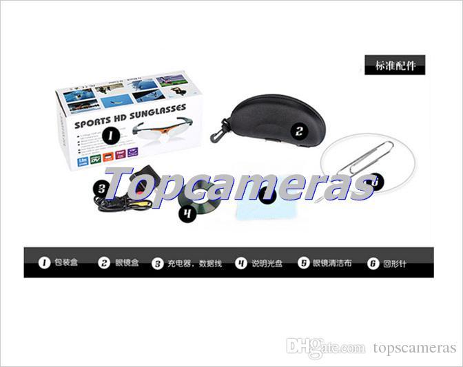 O envio gratuito de ângulos largos 170 câmera grau óculos de sol 1080P câmera de 5MP moda DV mini-óculos escuros