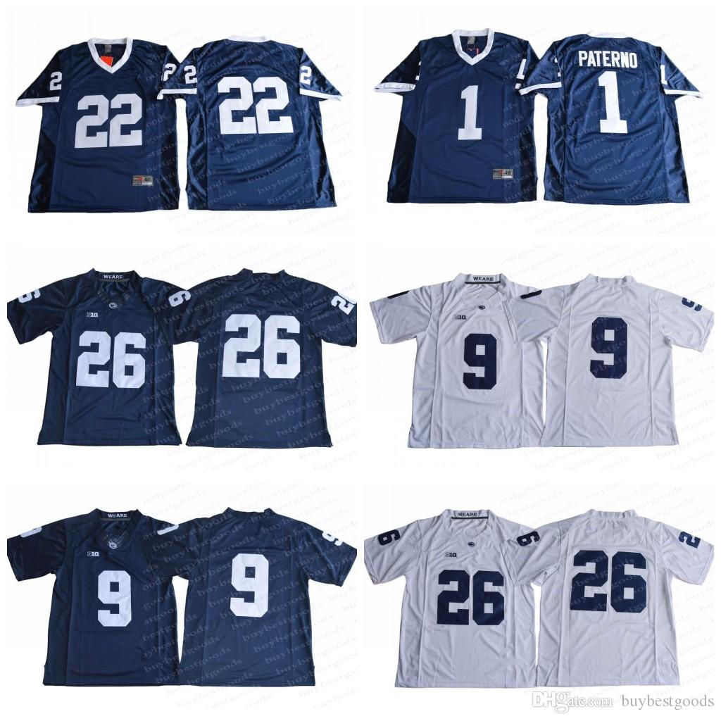 2019 2018 NCAA Penn State Nittany Lions 26 Saquon Barkley 9 Trace McSorley  1 Joe Paterno 22 Akeel Lynch BIG Ten College Football Jerseys Stitched From  ... d557fb797