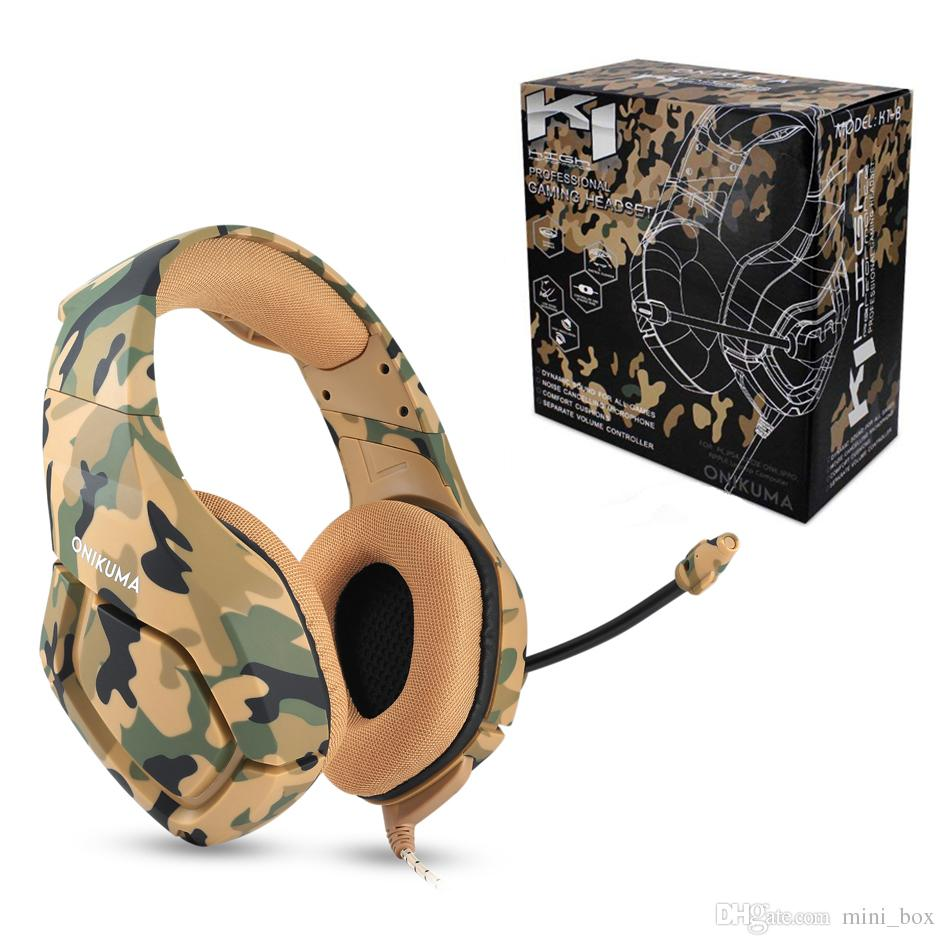 13d6e585c1d ONIKUMA K1 Gaming Headset Headphones Subwoofer Stereo With Microphone For  PC Computer For Xbox One PS3 PS4 Wired Cell Phone Headset Wifi Headset From  ...