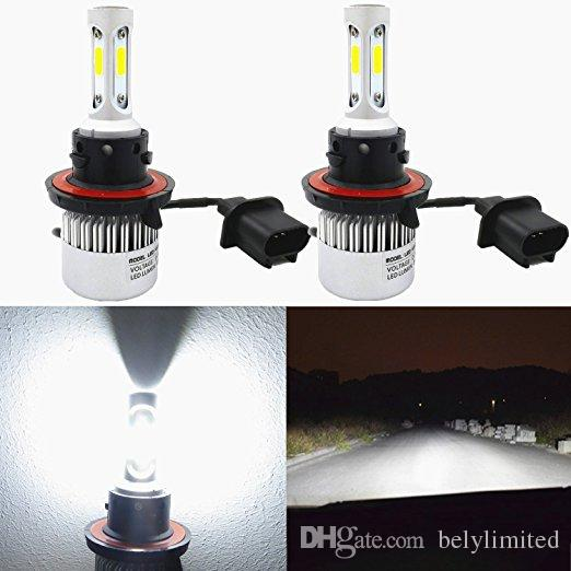1 Pair S2 Auto Car H4 H11 H7 H13 9004 9005 9006 LED Headlights 72W 6500K 8000LM COB Auto Led Headlamp 12v 24v