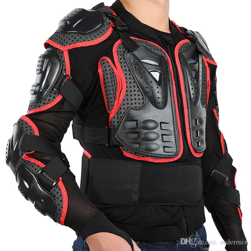 Liplasting Motocicleta Completa Body Armor Shirt Jacket Voltar Ombro Proteger Equipamentos S-XXXL Preto Vermelho frete grátis