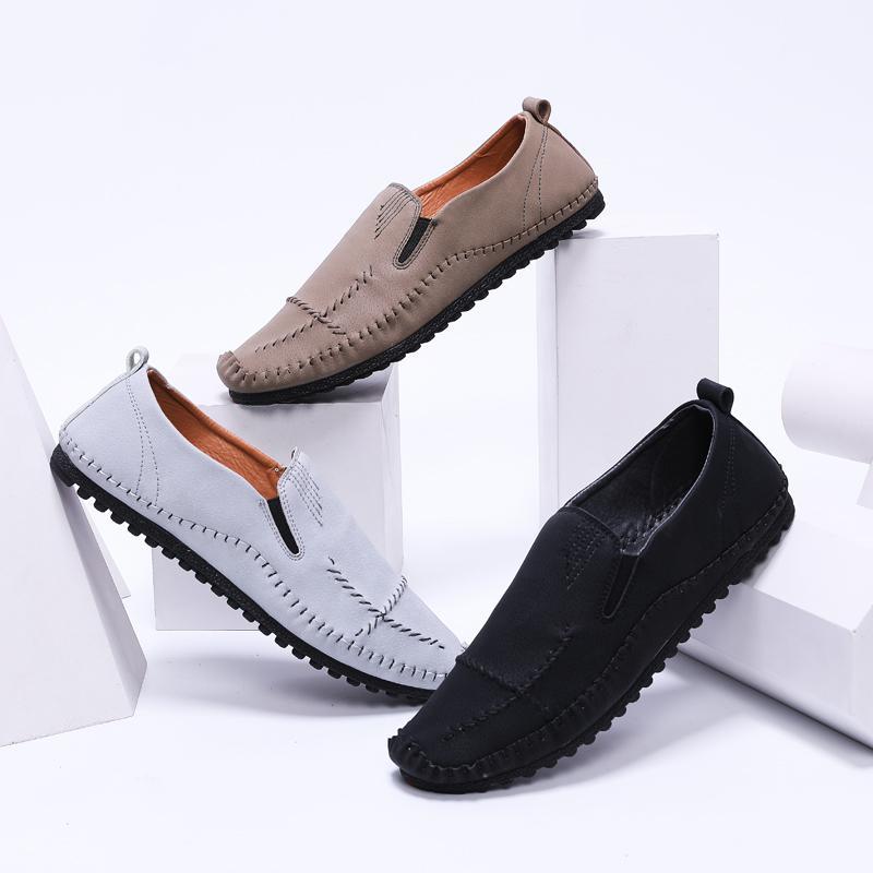 6198832ee8 Compre Moda Masculina Brogues Luxo Mocasines Sapatos Masculinos Flats De  Negócios Formais Casuais Mocassins De Couro Naturais Sapatilhas Homem Sapato  De ...