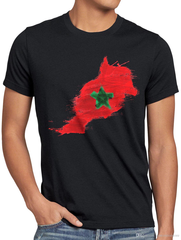 Grosshandel Marokko T Shirt Herren Fussball Sport Wm Em Fahne National