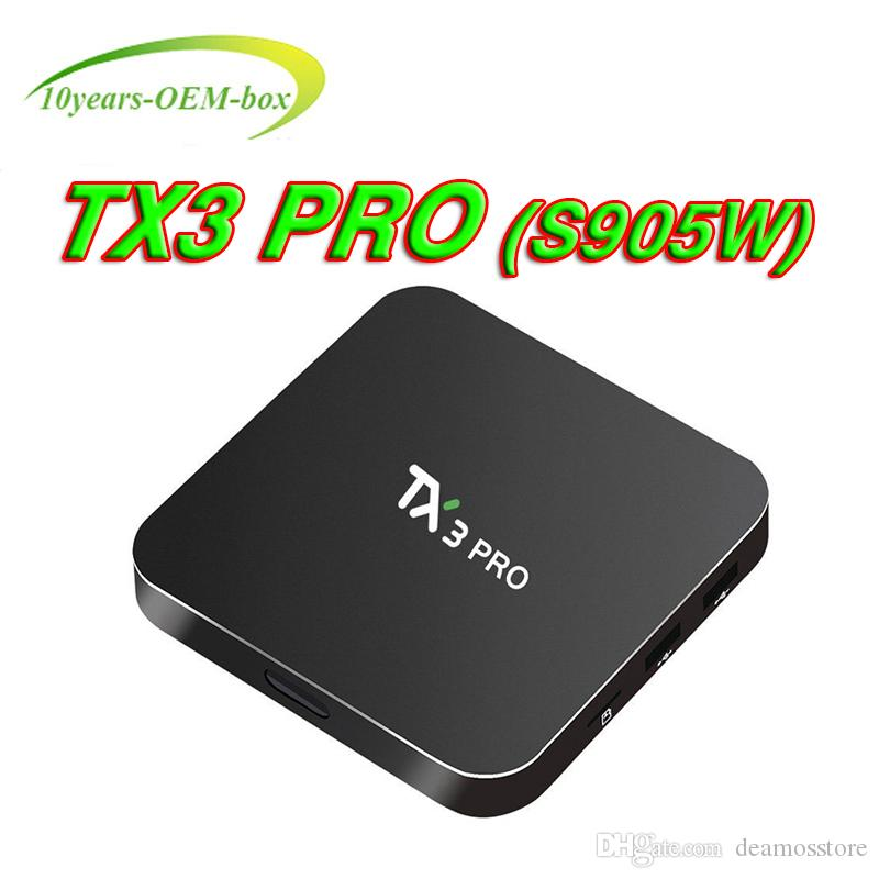 New TX3 Pro TV Box S905W Android 7.1 Amlogic Quad Core H.265 4K HD Wifi Google Streaming Media Player Better S905X X96