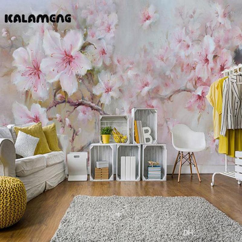 Kalameng Custom 3d Wallpaper Design Oil Paint Peony Photo Kitchen Bedroom  Living Room Wall Murals Papel De Parede Para Quarto Desktop Wallpaper Free  Desktop ...