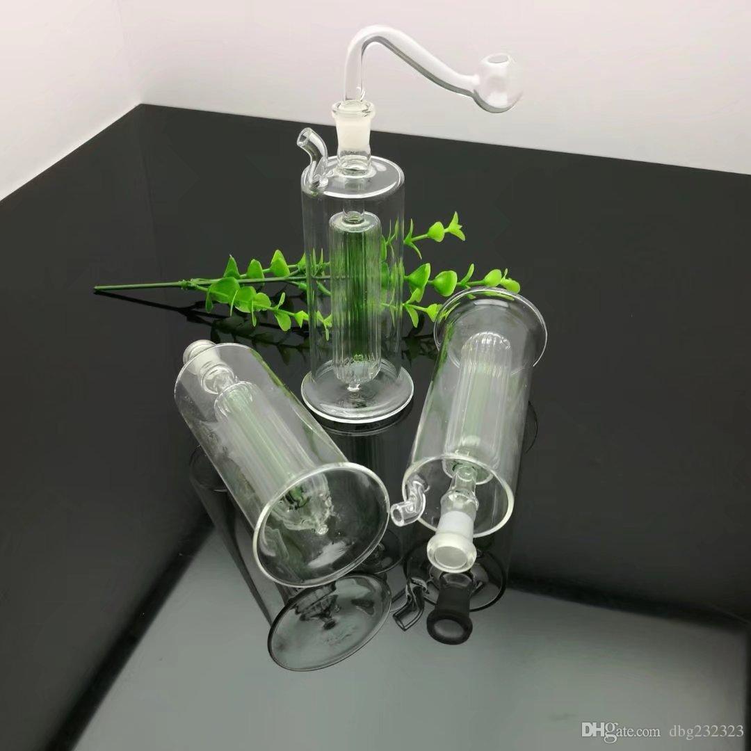 Mini pipa de agua del filtro de largo vidrio al por mayor pipas de agua Tubos de petróleo quemador del tubo de agua plataformas petrolíferas fumadores, Petróleo.