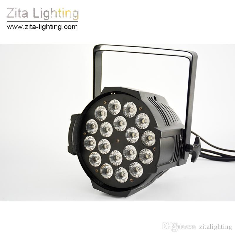 Zita Lighting LED Par Lights High Power Beam Stage Can Lighting Par64 RGBW 18X10W DMX512 DJ Disco Building Tower Wall Washer