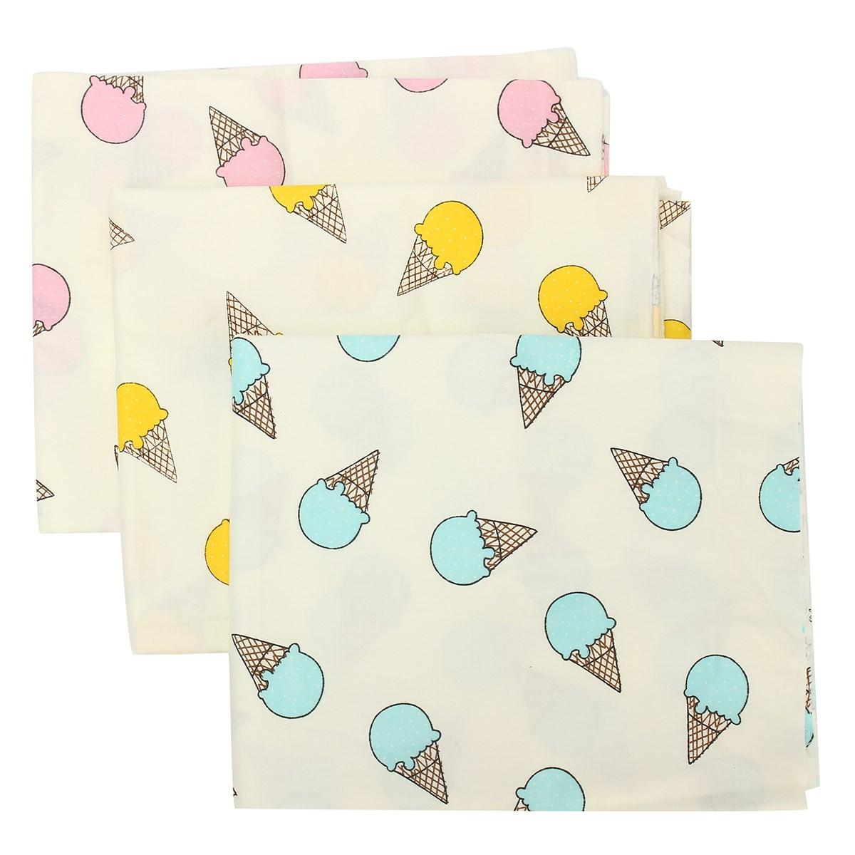 Cotton Fabric Patchwork Cartoon Ice Cream Fabric Quilting Baby Cloth ...