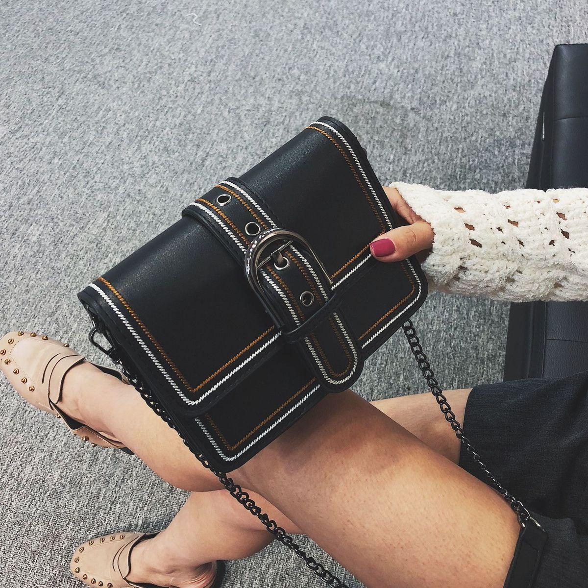 a063eab1d1b7 2018 New SquareFashion Bags Women Luxury Brand Lady Leather Handbags Chain Single  Shoulder Satchel Bag Online with  29.95 Piece on Yuncai5566 s Store ...