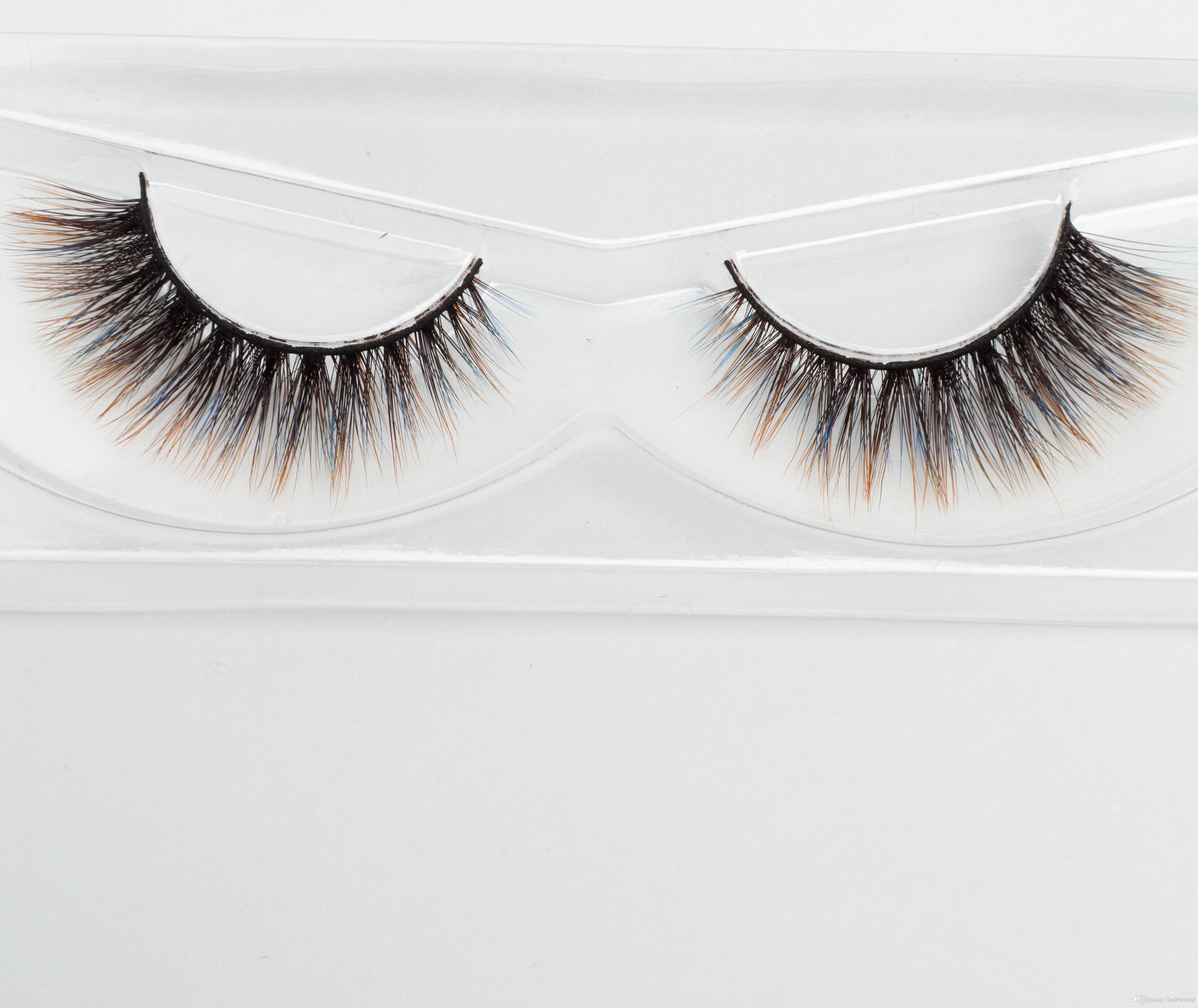 8db600d24fe Seashine 3d Faux Mink Eyelashes Silk Strip Lashes Silk Colorful Eyelash 3d  Colorful Silk Lashes False Eyelashes Epacket C5 How To Apply False Lashes  Longer ...