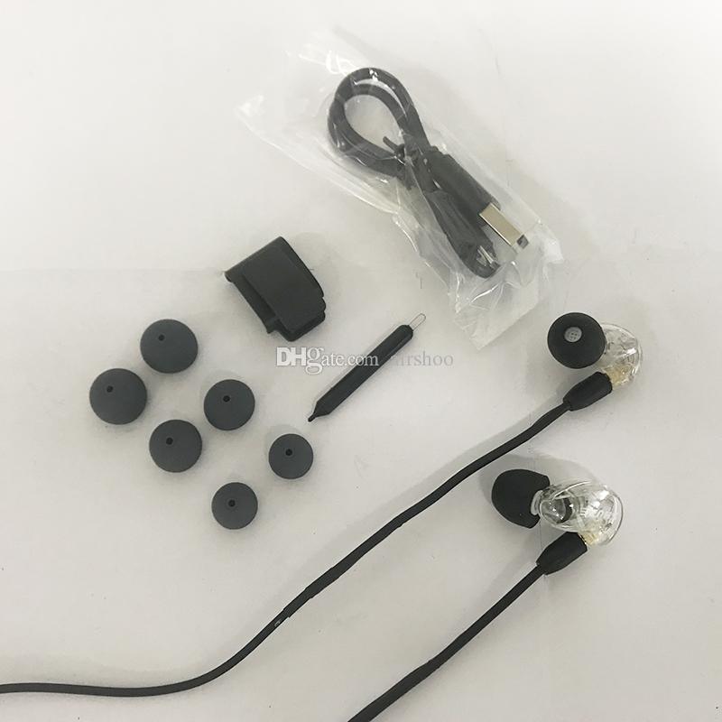 Date SE215 Écouteurs Sans Fil Casques Écouteurs Intra-auriculaires Bluetooth Avec Boîte de Vente Au Détail hifi Parfait Annulation De Bruit Câble Séparé