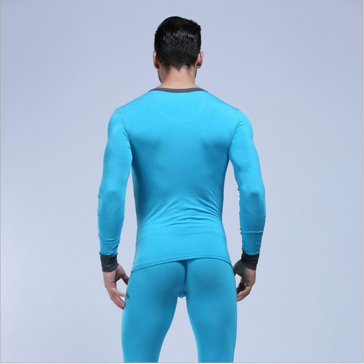 New WJ men's long johns set lycra cotton male legging autumn and winter thermal underwear Long Johns set M L XL