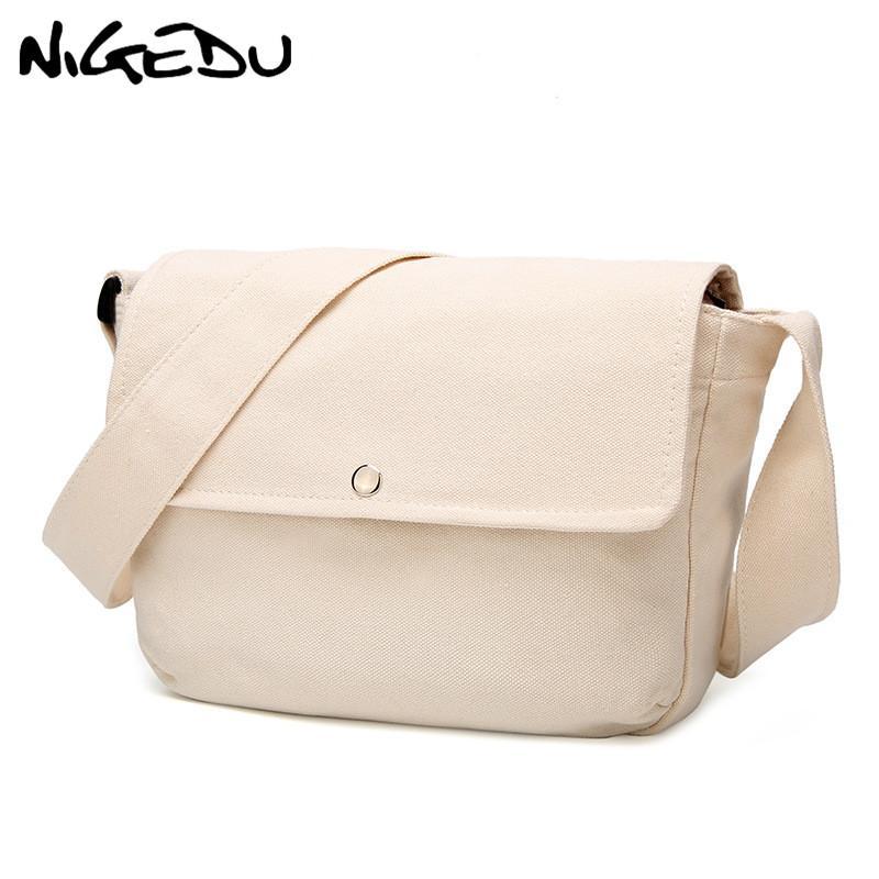 2ff829ff15 Casual Canvas Women Shoulder Bags Large Capacity Student Messenger Bag  Cross Body Hand Bag Female Handbag Shopping Bolsa Cheap Designer Bags Mens  Shoulder ...