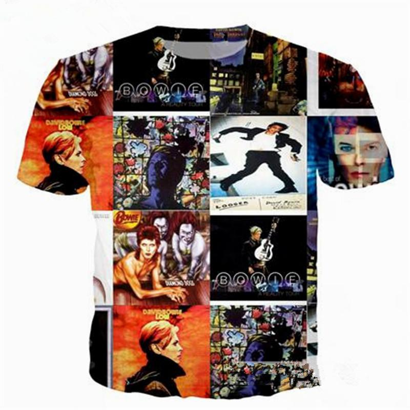 3bec1659b4 Newest Fashion Rock Star David Bowie T Shirt Funny 3D Printed Women Men  Short Sleeve Unisex T Shirt Casual Tops K238 White T Shirts With Designs  Cloth T ...