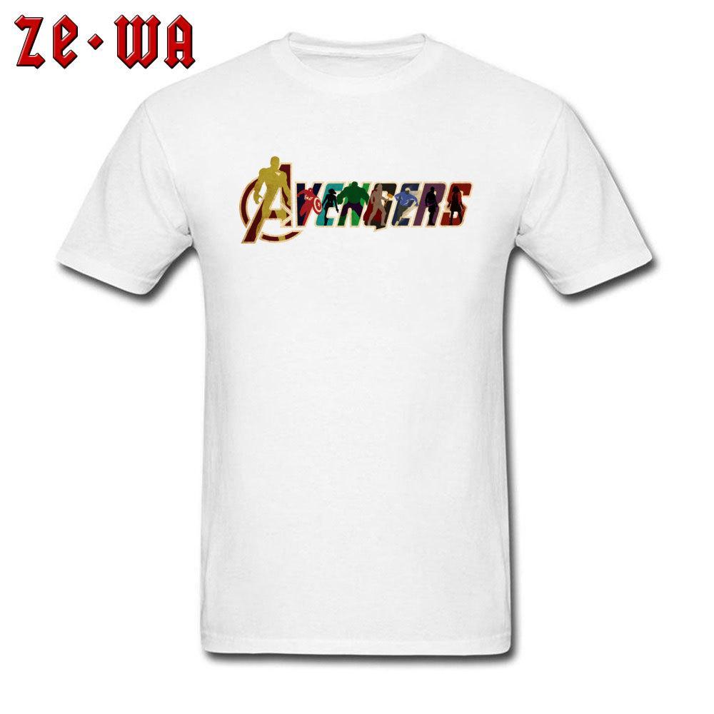 fae4dcf5 Avengers T Shirt Men Marvel T Shirt Comics Tshirt Mens White Tees Superhero  Tops Superman Spiderman America Clothes Cotton Comical T Shirts T Shirt  With ...