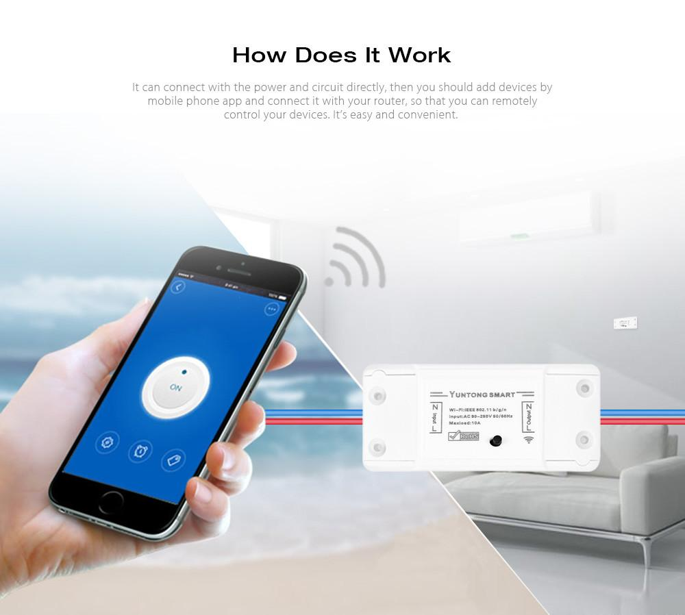 2018 Wireless Wifi Switch For Smart Home Automation Relay Module 10a Android 90 250v 220v Support Ios Remote Controller From Burty 3486