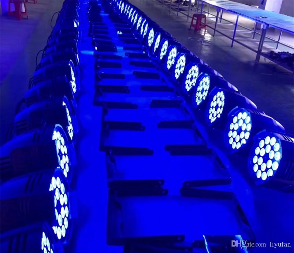 LED par 18x12W RGBW 4in1 Quad LED Par Can Par64 led spotlight dj projector wash lighting stage light light