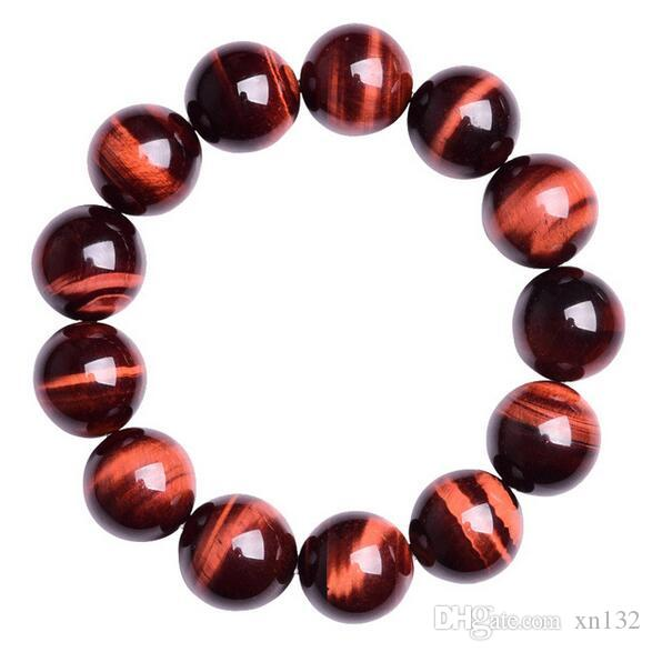 Natural Red Tiger Eye Bracelet Hand Carved Lucky Men s and Women s Jewelry  Bracelet Bead
