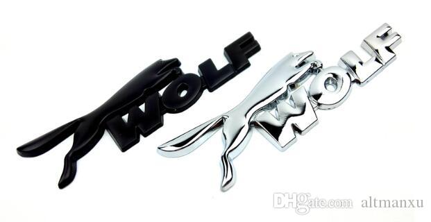3D WOLF Logo Car Rear Trunk Emblem Badge Sticker For ford Focus Fiesta Mondeo Kuga Ecosport Auto Accessories