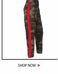 Weekeep Fashion High Waist Camouflage Pants Women Patchwork Pockets Cotton Cargo Jeans Trousers Women Sweatpants Camo Pants