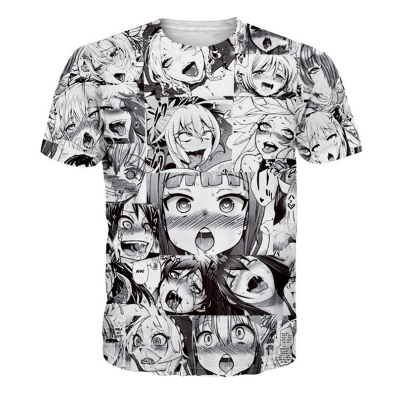 cf43500c Ahegao Anime 3D T Shirt Men Women New Fashion Hip Hop Streetwear Tops Tees  Casual Funny Graphic Tshirt Plus Size S 5XL Dropship Cool And Funny T Shirts  Buy ...