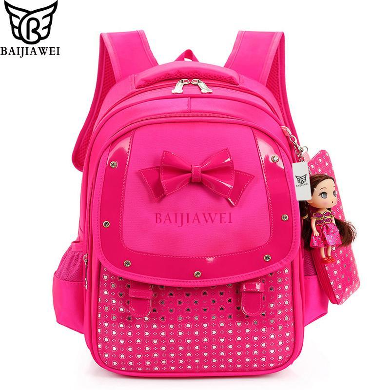 6440b539640c BAIJIAWEI Fashion Buerfly Girls School Bags Children Backpack ...