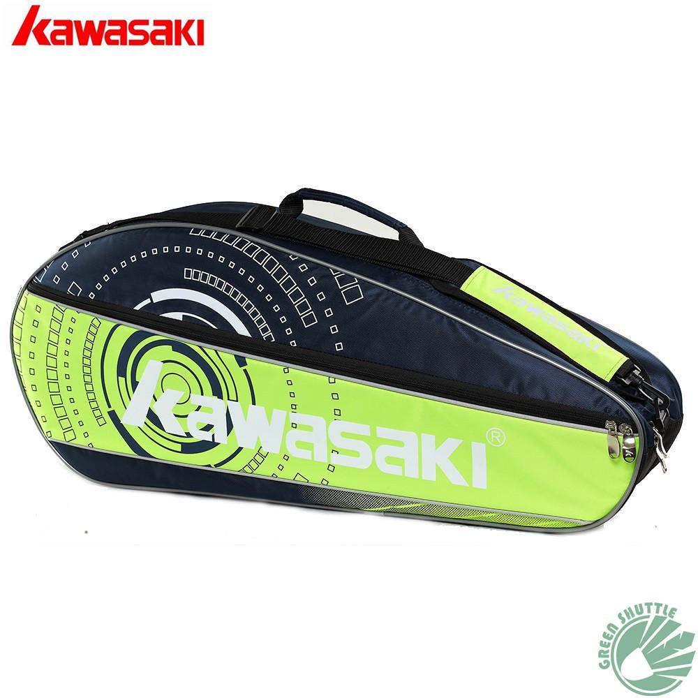 d43fb9920 Compre 2018 Novo Kawasaki Genuíno Badminton Saco De Tênis Saco De Raquete  Para 3 Peças KBB 8312 KBB 8313 De Lvmangguo