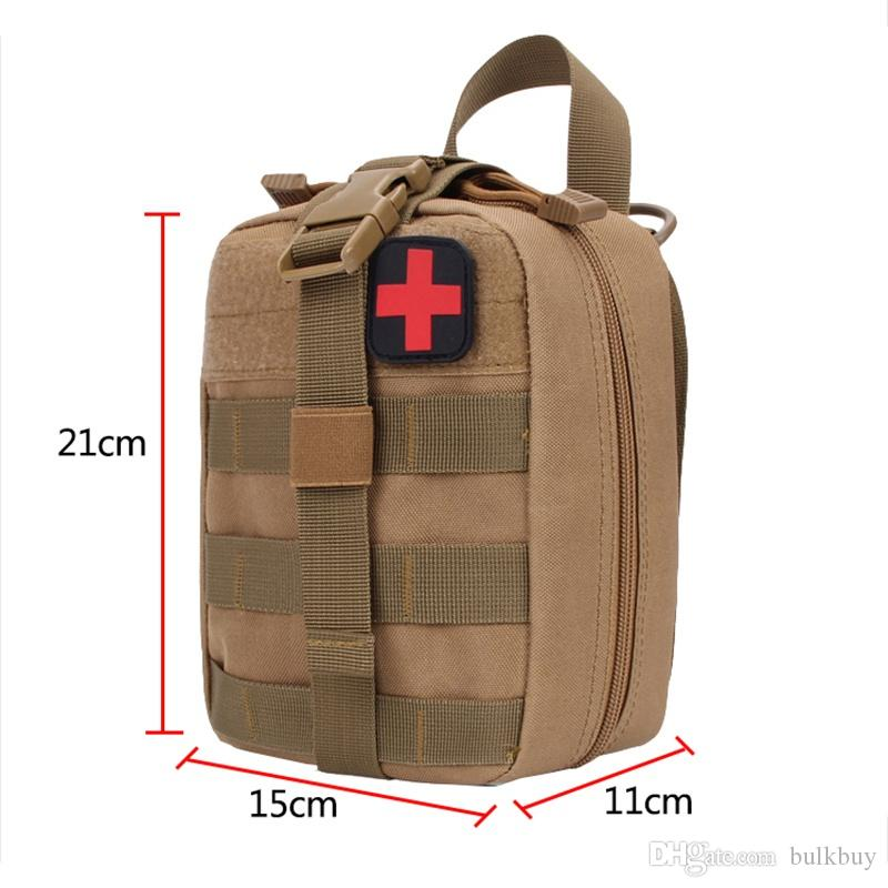 Portable Outdoor Hunting Molle Medical Cover Emergency Survival Package Utility Tactical Medical First Aid Kit Patch Bags