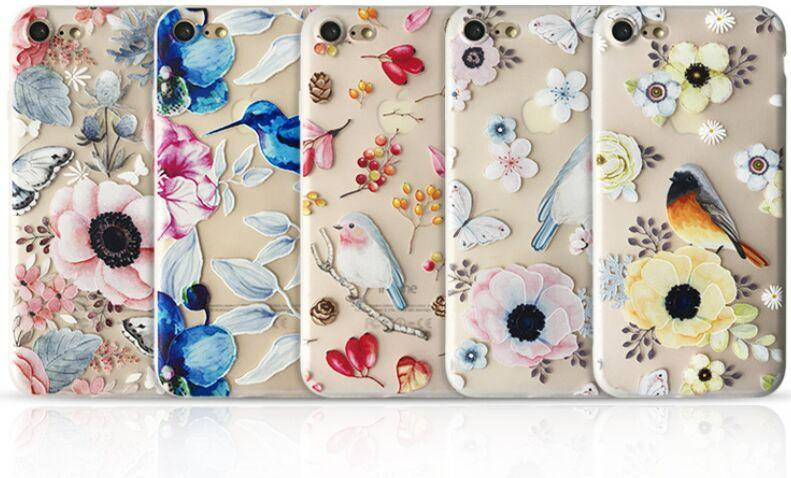 Fashion Apple iphone X cases iphone 7 8 plus 6S shell TUP silicone drawing case landscape