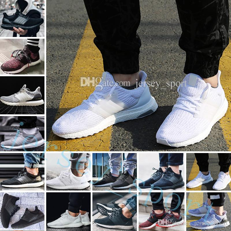 77deb4787675f 2019 Ultra Boost 2.0 3.0 4.0 UltraBoost Mens Running Shoes Sneakers Women  Designer Sport UB CNY Dog Snowflake Core Triple Black All White Grey From  ...
