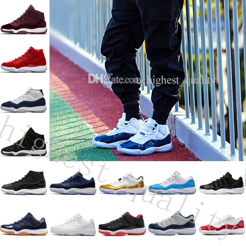 New Gym Red GS Midnight Navy 'Win Like 82' 11 Basketball Shoes hot sale Men original Sneakers Boots Weaving 11S Boots Cheap online for sale