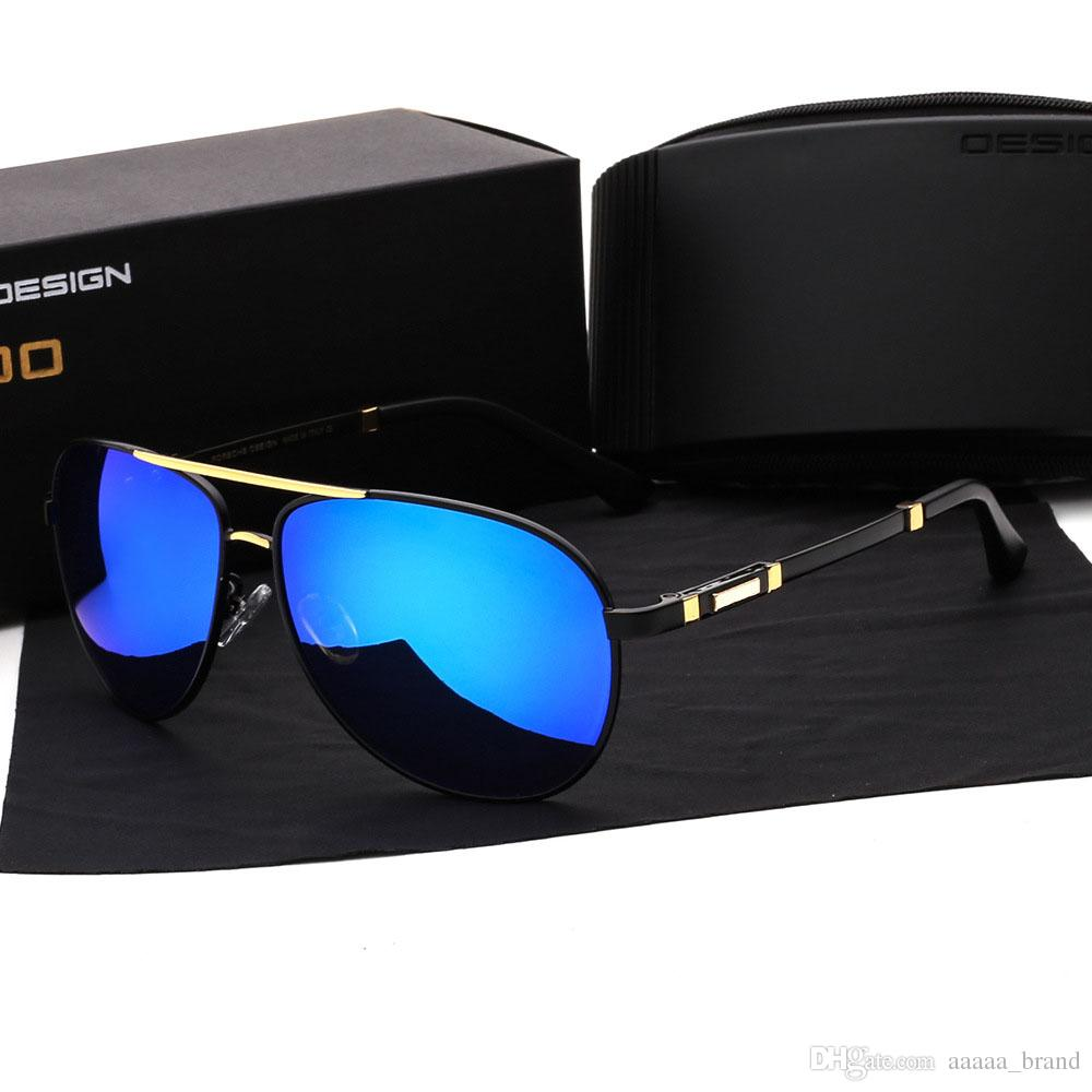 b518c26966 Wholesale Brand Designer Polarized Sunglasses Men Women High Quality Alloy  Frame Sport Fishing Driving Glasses With Cases And Box Running Sunglasses  ...