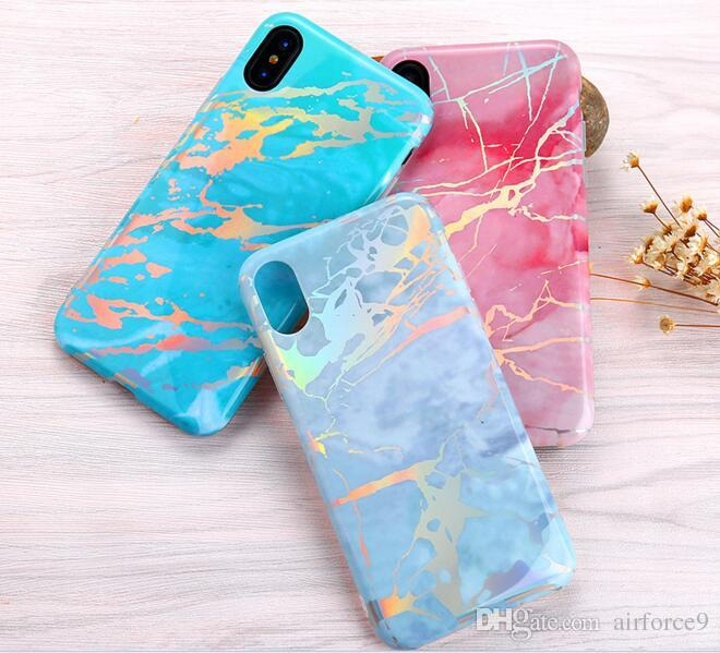 2018 hot NEW phone shell marble painted phone shell relief soft shell TPU creative art mobile phone cases DHL free
