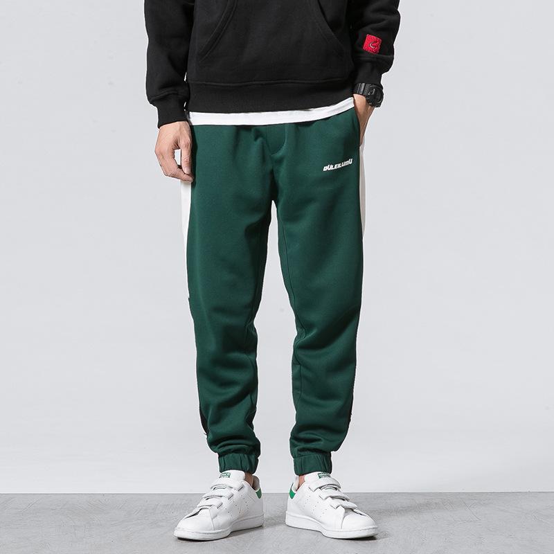 3ec585df9c Men Track Pants Sweat Pants Fashion Tide Loose Hip Hop Cotton Blend ...