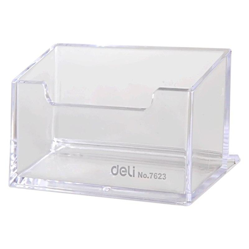 2018 deli business card box 7623 large capacity card seat plastic 2018 deli business card box 7623 large capacity card seat plastic transparent data collection box convenient to take the enterpr from tiankonghalei colourmoves