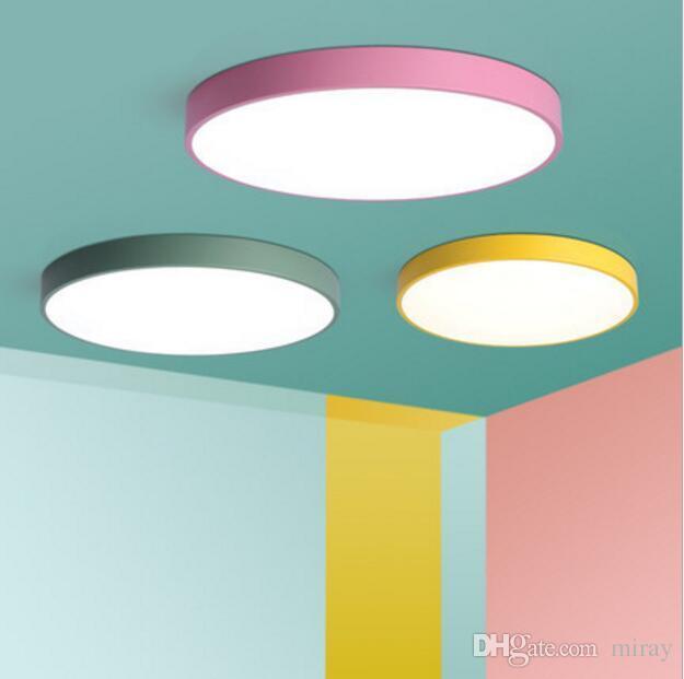 Schlafzimmer Lampe Deckenlampe modernen Minimalismus warm Ma Ka Lung Lampen  LED Nordic Runde Wohnzimmer Kinderzimmer Lichter