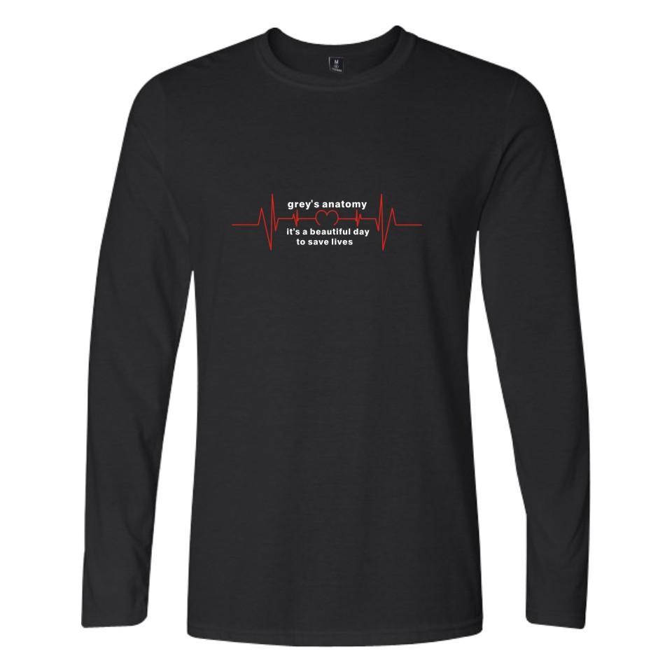 Greys Anatomy T Shirts Casual Letters Printed Grey Sloan Memorial