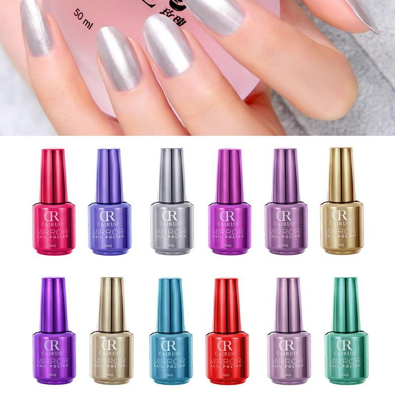 Cairuo Mirror Metallic Gel Nail Polish Newest Classical Solid Nails